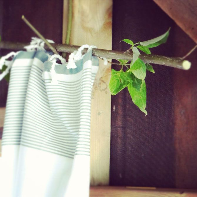 twig curtain rod tea towels as curtains yup tea towels