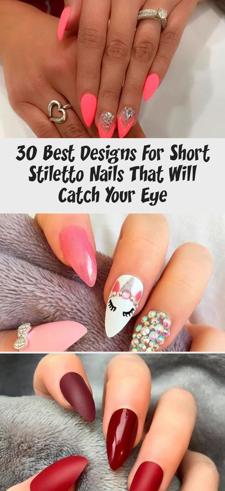 Photo of 30 Best Designs For Short Stiletto Nails That Will Catch Your Eye – Nail Art Desing
