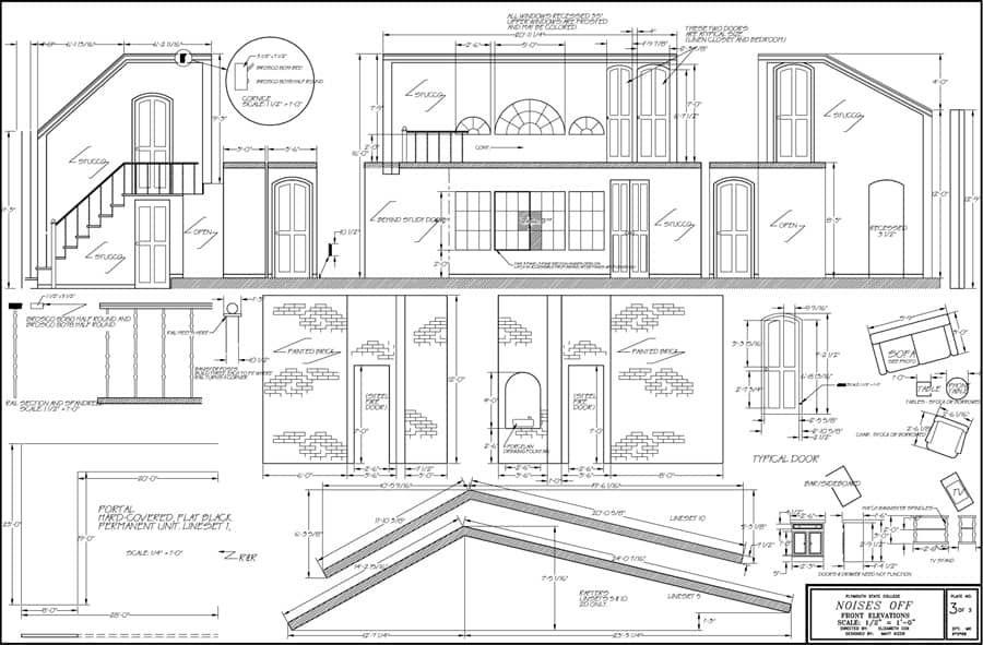 Blue Print Blueprints Scenic Design Technical Theatre