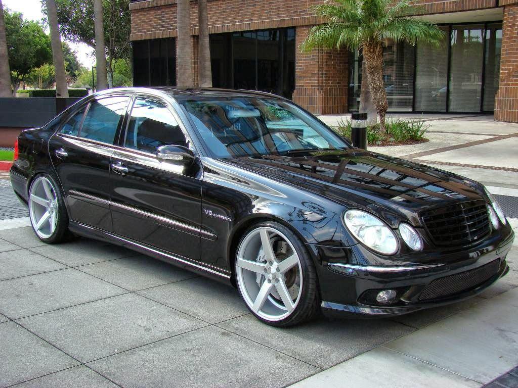 Mercedes Benz W211 E55 Amg On 20inch Vossen Wheels E55 Amg