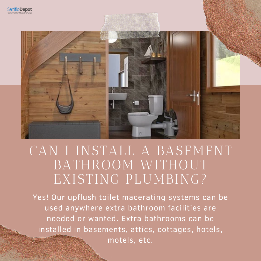 How To Install An Upflush Toiletif You 39 Re Remodeling To Add A Bathroom To Your Basement Consider A In 2020 Basement Bathroom Small Basement Bathroom Upflush Toilet