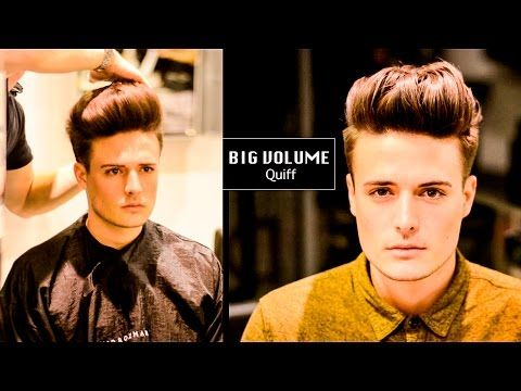 Tight Faded Undercut BIG VOLUME Quiff Mens Haircut And - Undercut hairstyles youtube