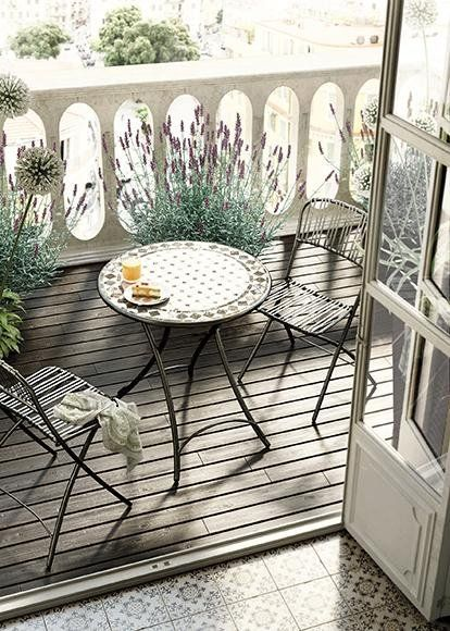 45 tendencias de decoraci n con plantas jardines y decoraciones pinterest balkon balkon. Black Bedroom Furniture Sets. Home Design Ideas