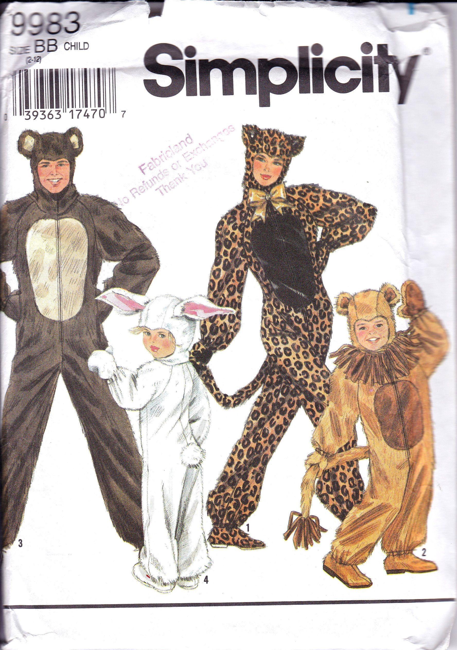 Animal Costumes, Lion , Bear, Rabbit, Leopard, Cosplay Costumes ...