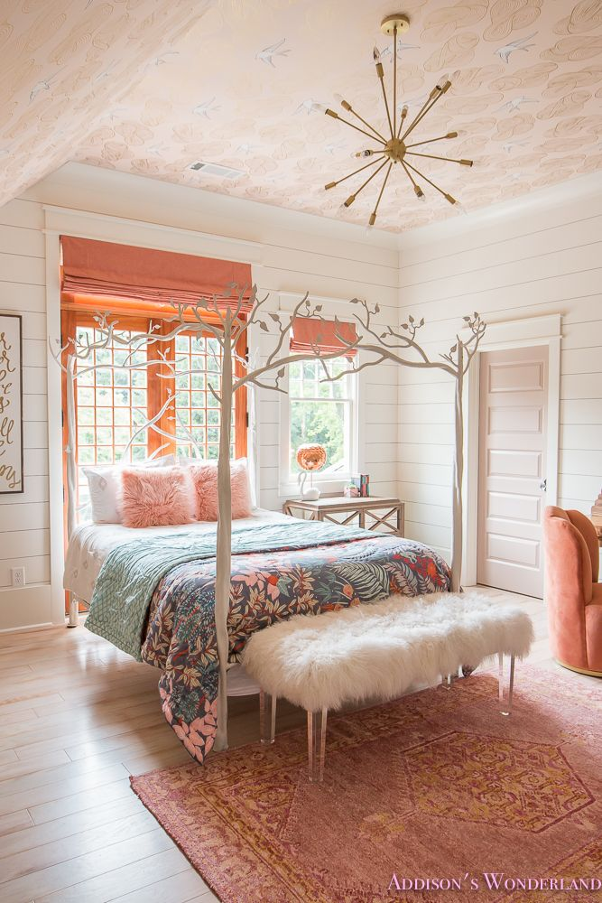 Addison's Bright Coral Young Girl's Bedroom Reveal... - Addison's Wonderland