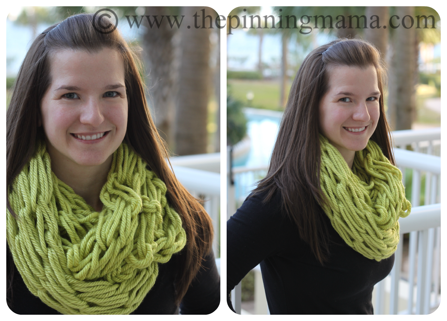 Pin Test: Infinity Scarf made with Arm Knitting   Arm knitting, Arm ...