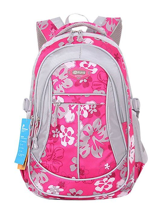 JiaYou Kid Child Girl Flower Printed Waterproof Backpack School Bag ... ed23d2e1fd726