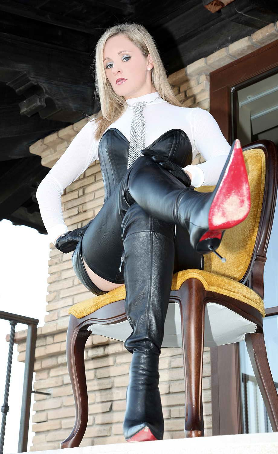 Sexy In Leather Photo Leather Boots Pinterest