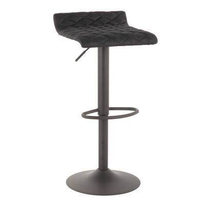 Lumisource Cavale Adjustable 22 31 In Grey And Black Barstool