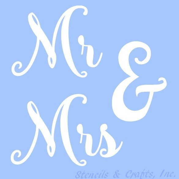 Mr  mrs stencil word words template paint pattern art craft color