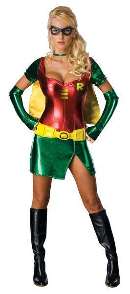 Lisensoitu Robin Super Deluxe asu. Muuttaa sinut hetkessä taviksesta Superseksikkääksi supersankariksi. Batman tosin ei saa hommiaan tehtyä ihan täydellä teholla, kun on tämän näköinen aisapari. #naamiaismaailma