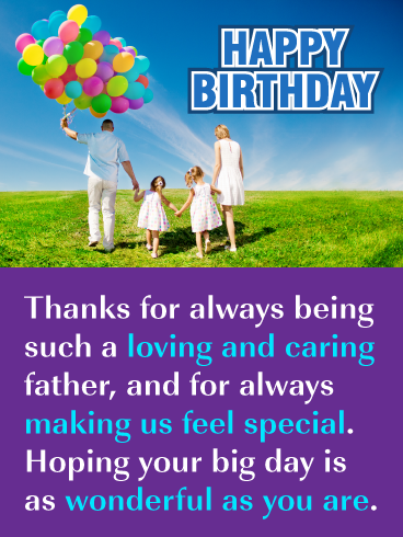 Colorful Balloons Happy Birthday Card For Father From Us Birthday Greeting Cards By Davia Dad Birthday Card Birthday Greeting Cards Birthday Wishes For Wife