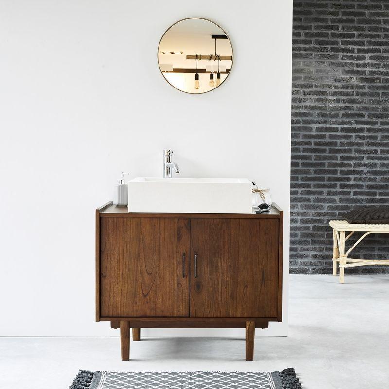Meuble Sous Lavabo Vasque Diy Bathroom Decor Wooden Bathroom Cabinets Upstairs Bathrooms