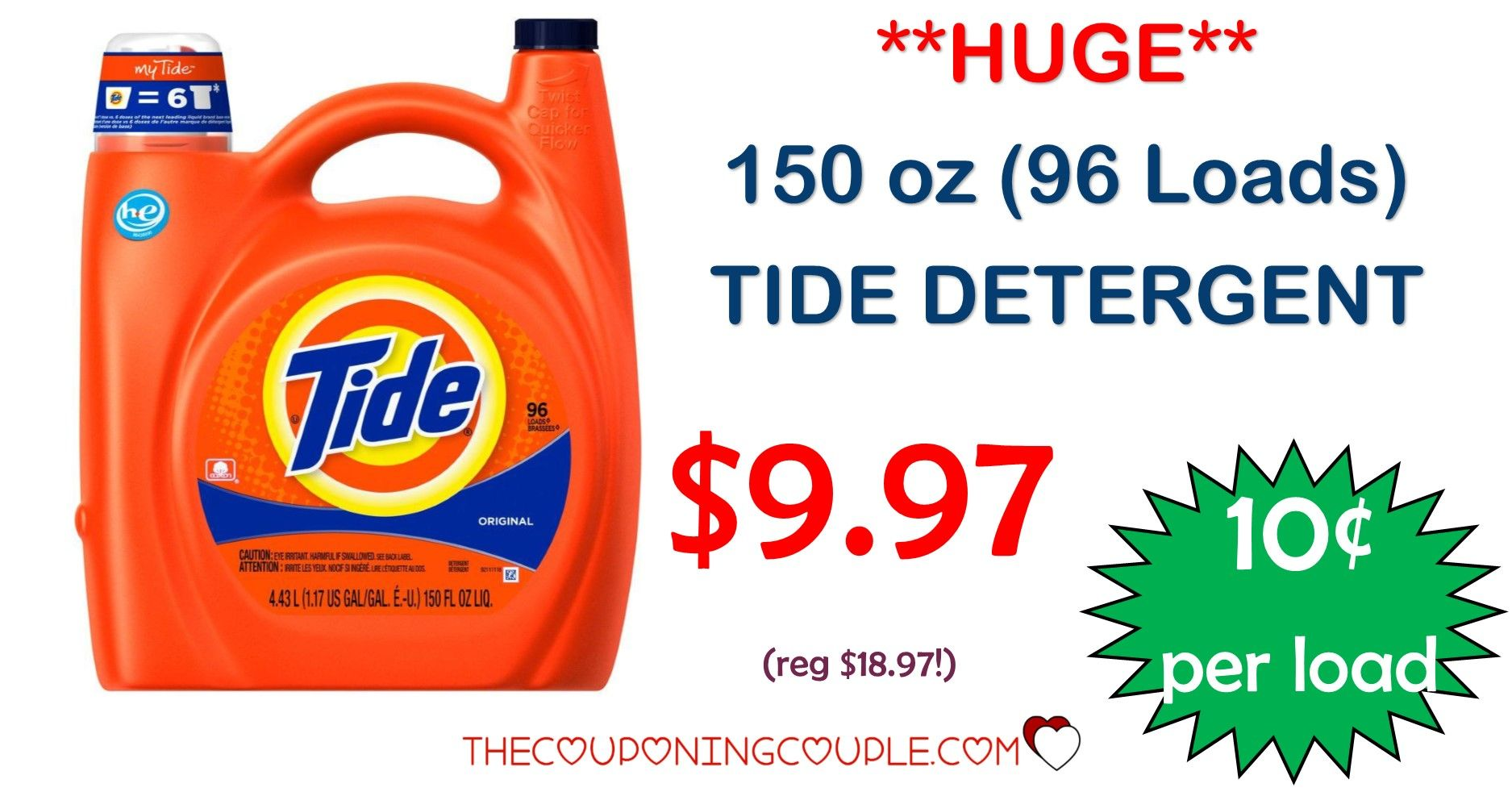 150 Oz Tide Detergent Only 9 97 At Home Depot Today Only