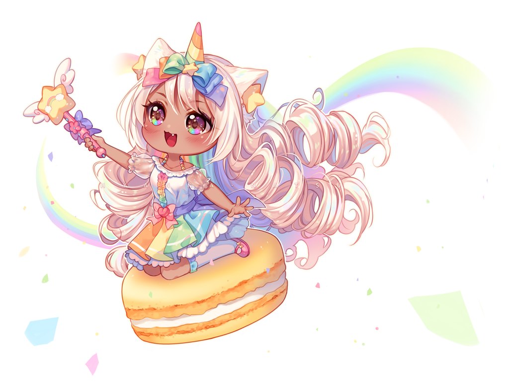 Video Commission Unicorn Rainbow By Hyanna Natsu On Deviantart Chibi Girl Drawings Chibi Anime Kawaii Cute Anime Chibi