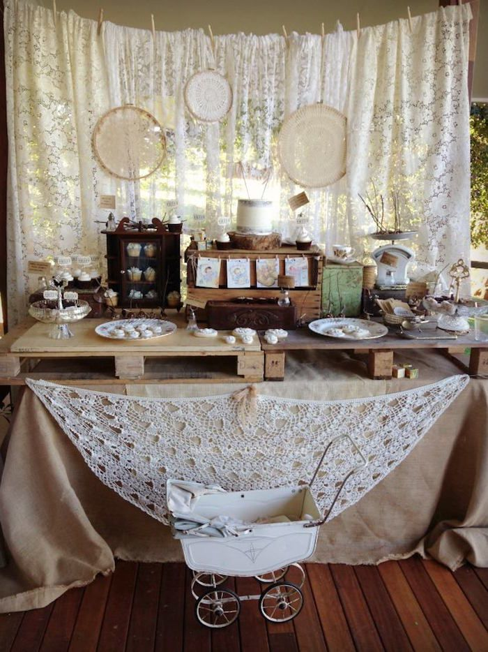 Rustic Lace Baby Shower Via Kara S Party Ideas