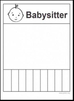 5 easy babysitting flyers babysitting and babies flyers with tear off tabs 5 easy babysitting flyers saigontimesfo