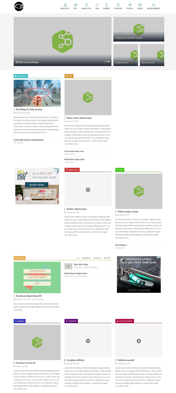 WordPress site kaisarbhuiyan.com uses the AirSlice best wordpress theme