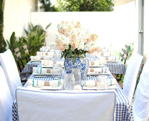 Gingham Style | Gingham, Table settings and Gingham wedding