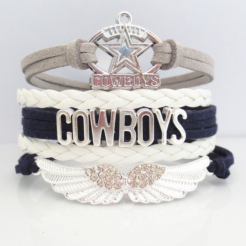 INTRODUCTORY 50% OFF SALE! Brand new for 2016 season! Introductory special - Be one of the first to get one of these pretty Love Dallas Cowboys Football Bracelets at 50% Off retail. Show off your team