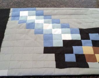 Minecraft Sword Pillowcase- Twin Size