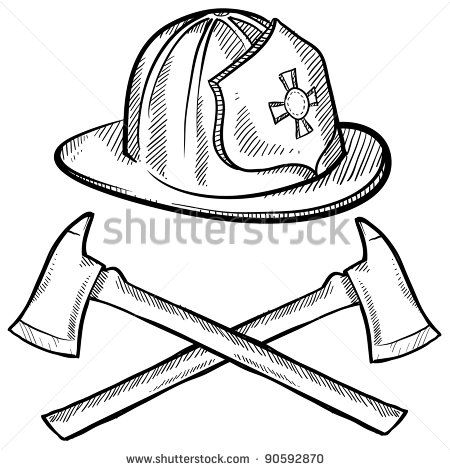Firefighter Helmet Drawing Helmet Drawing Firefighter Drawing