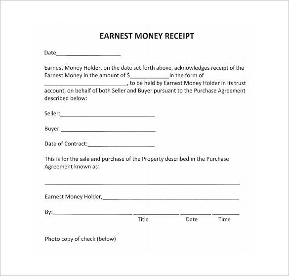 Money Receipt Format , Receipt Template Doc for Word Documents in - payment slip format free download