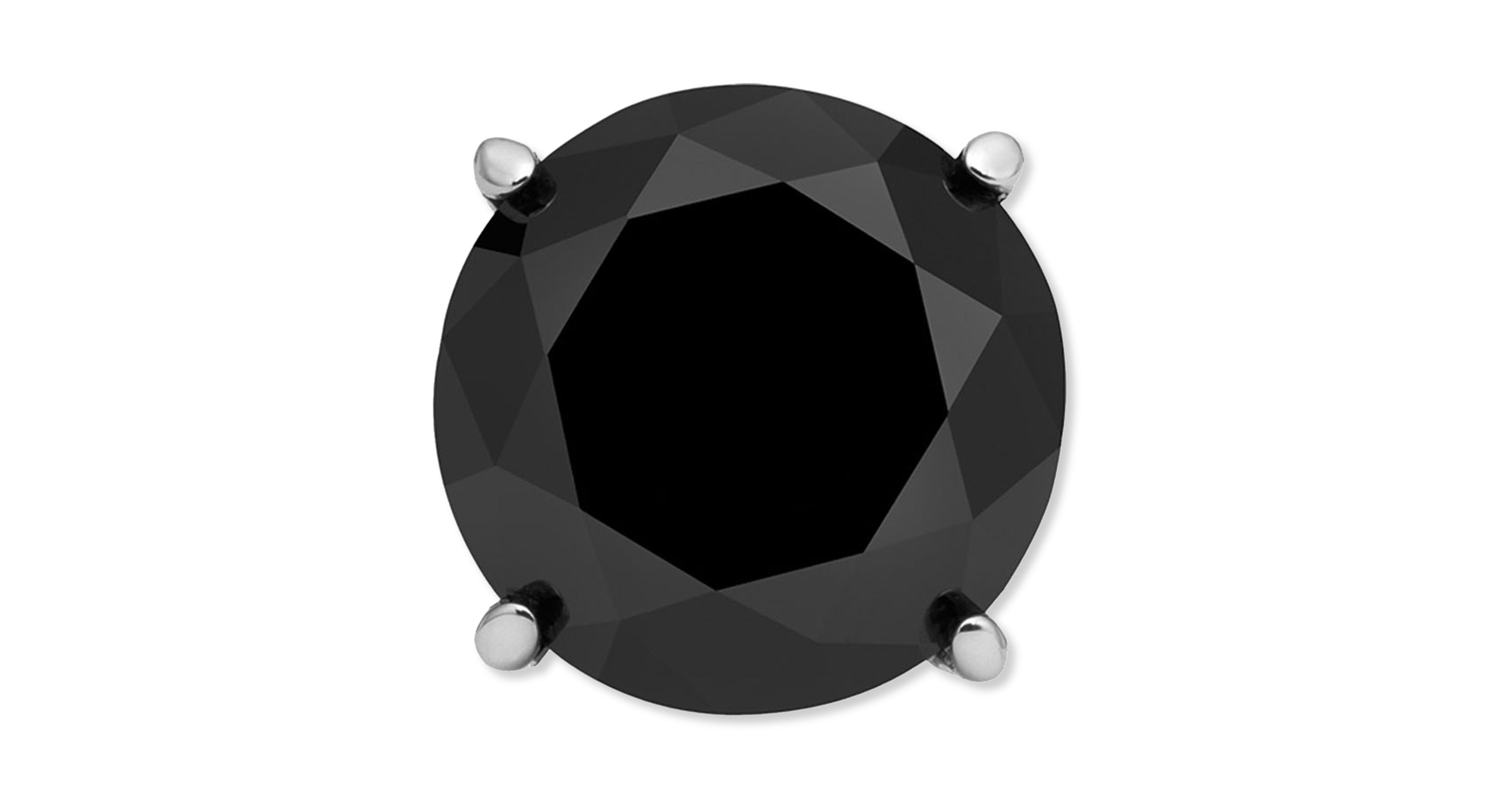 Men s Stainless Steel Earring Black Diamond Single Stud Earring