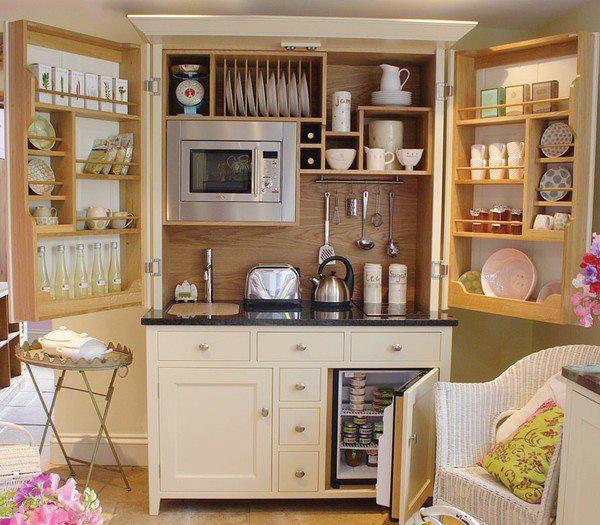 Um armário bem equipado para sua cozinha!