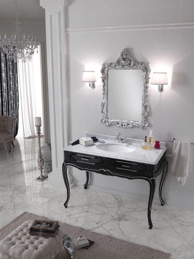 petit meuble salle de bain baroque