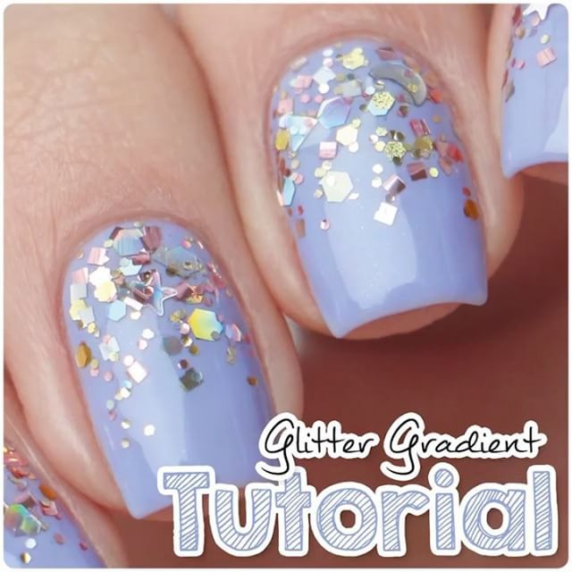 Video Tutorial Quick And Easy Glitter Gradient With Puttin On