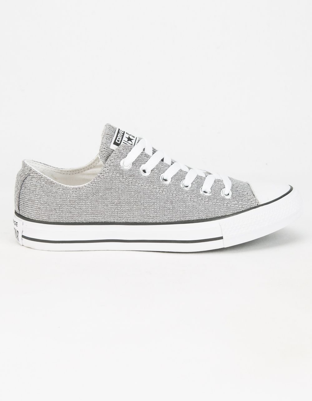 135543b774f0 Classic Chucks! Converse Chuck Taylor All Star Sparkle Knit Low shoes.  Unique sparkle knit canvas upper with the traditional vulcanized rubber  outsole.