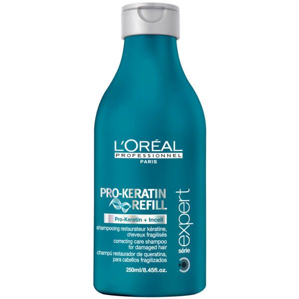 L'Oreal Professionnel Serie Expert Pro-Keratin Refill Shampoo (250ml) (39 BRL) ❤ liked on Polyvore featuring beauty products, haircare, hair shampoo and l'oréal paris