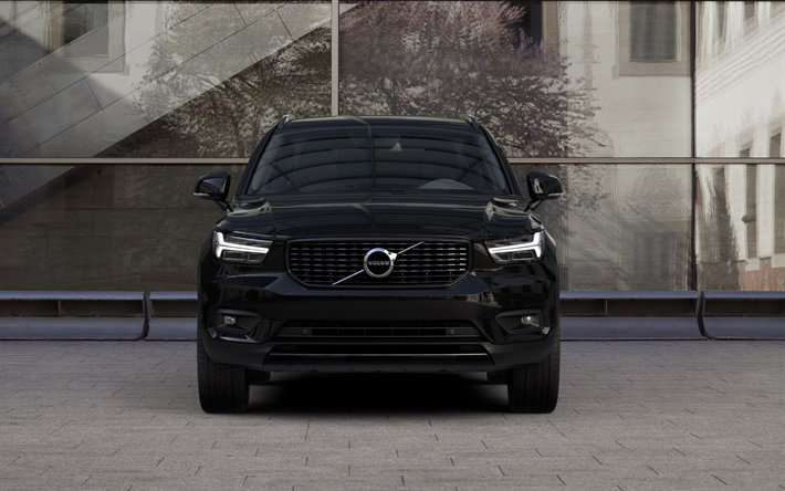 herunterladen hintergrundbild volvo xc90 t6 2018 front. Black Bedroom Furniture Sets. Home Design Ideas