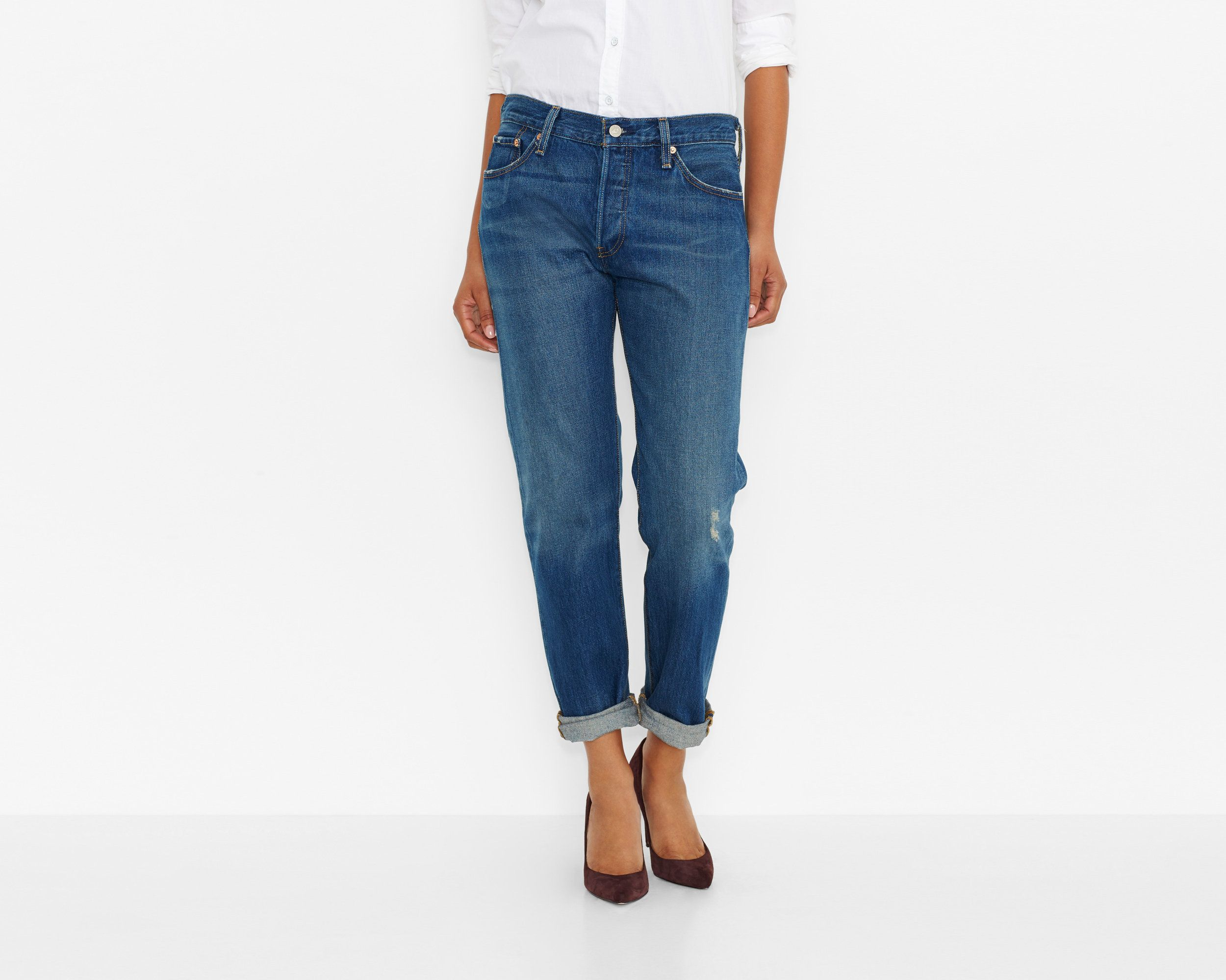 Women's Low Waist Bodycon Elastic Denim Pencil Jeans in ...