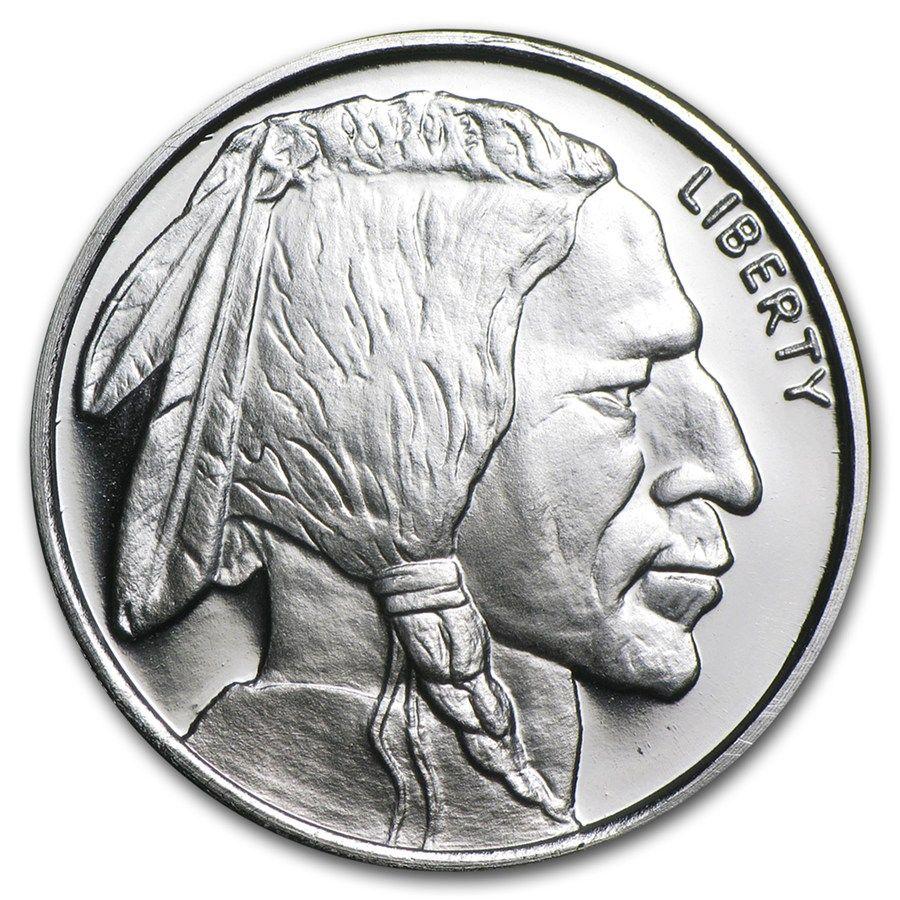 1 2 Oz Silver Round Buffalo Coins Silver Rounds Silver Silver Coins