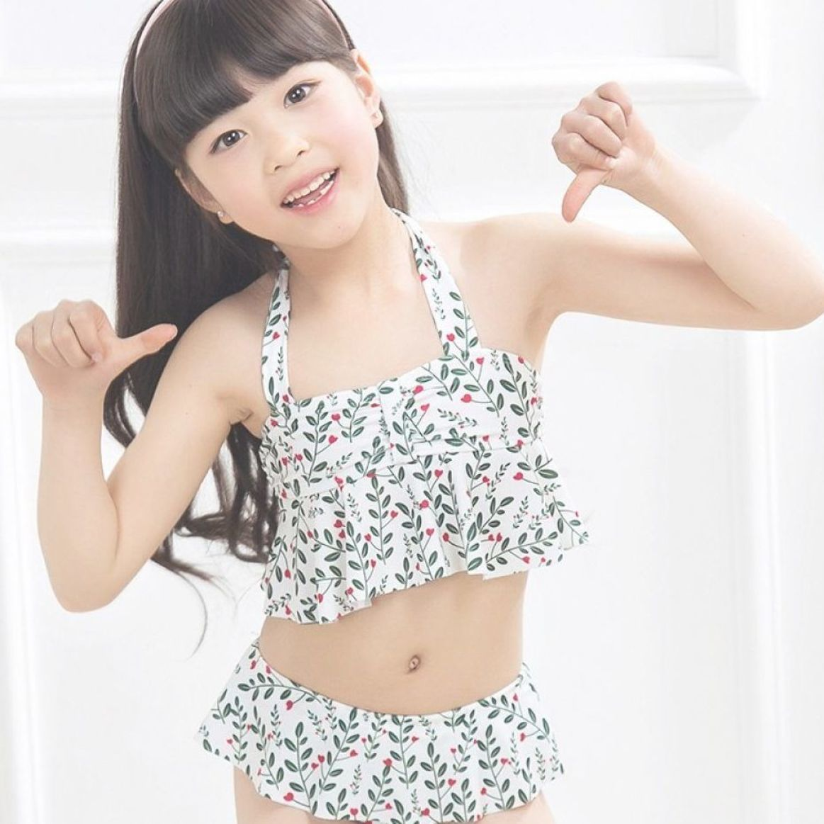 New Season Extra Cute Girls Two Piece Swimsuit Price  2532  FREE Shipping