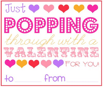 photo relating to Popcorn Valentine Printable titled Valentines Working day Printables As well as Tin Can Snacks