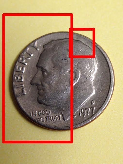 1977 D Roosevelt Dime Broadstrikes and Mintmark Filled In Error