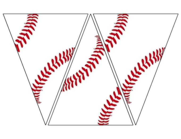 Free Printable Baseball Banner {baseball party decorations} – Paper Trail Design
