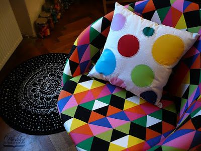 decorative pillow by #dushky | #home #decor #pillow #dots #colour #circles #geometric #handmade #crafts