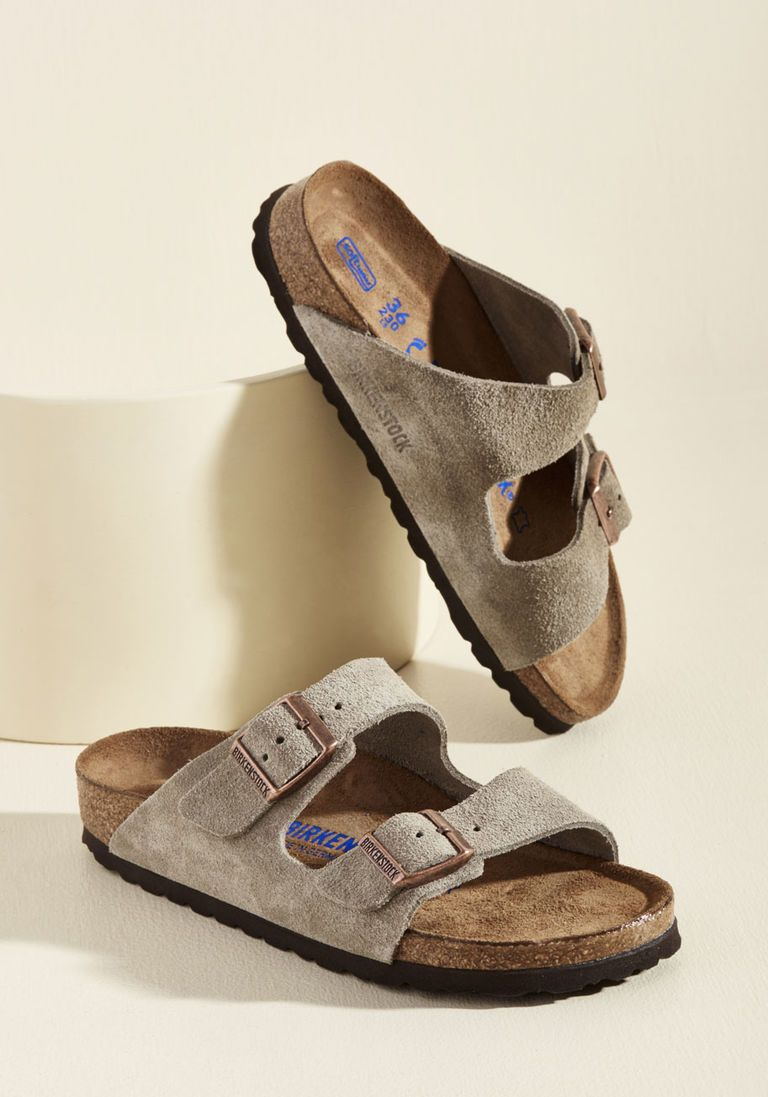 ff59253f5fc Strappy Camper Sandal in Tan Suede - Narrow in 39 - Flat - 0-1 by  Birkenstock from ModCloth