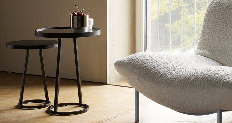 Circles occasional tables by maria jeglinska circles is a collection comprising two large for Table yoyo ligne roset