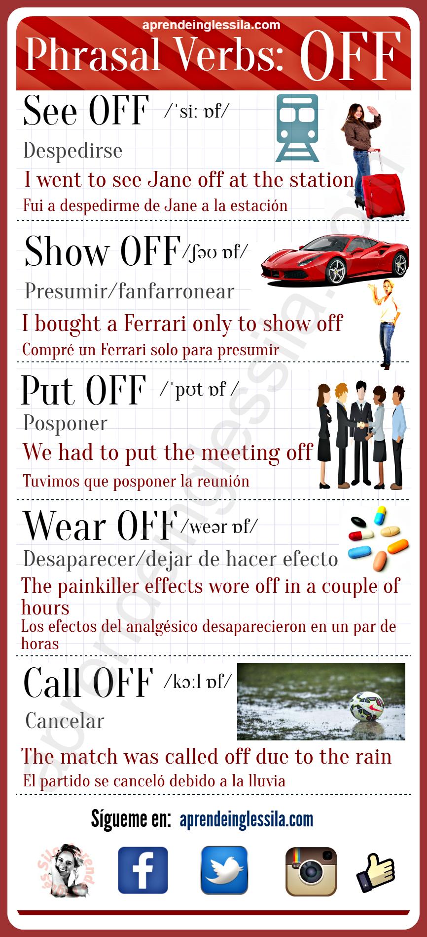 off en inglés   English language learning, English vocabulary ...