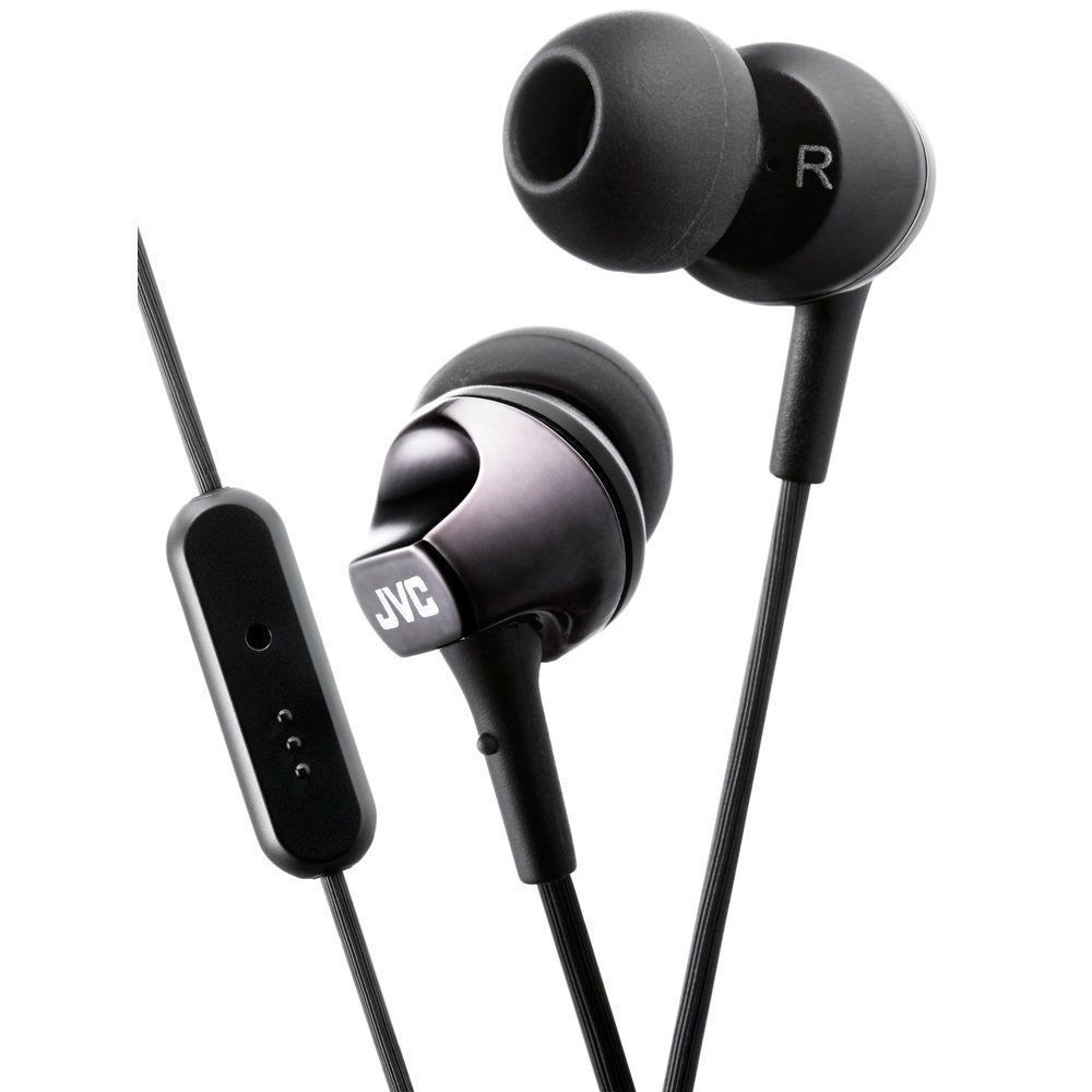 Details About Jvc Ha Fr325 Black In Ear Headphones W Remote And