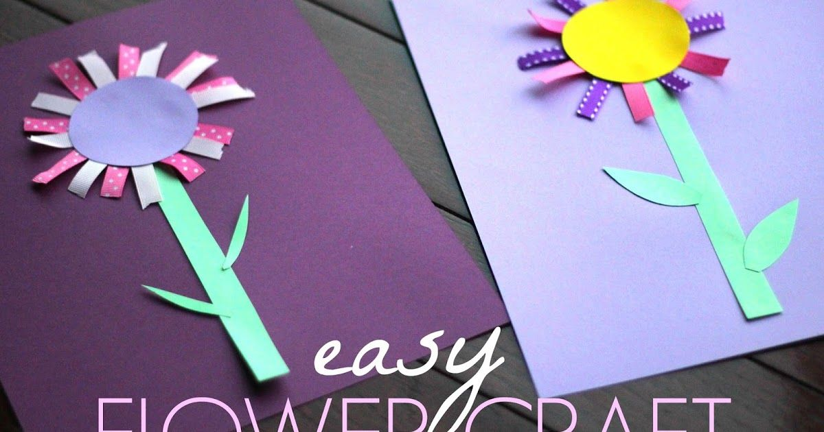 Colorful Ribbon Flower Craft For Kids In 2020 With Images