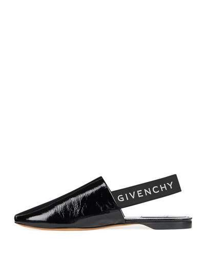 8a560a83270 Givenchy Rivington Crinkle Patent Logo Slingback Flat in 2019 ...