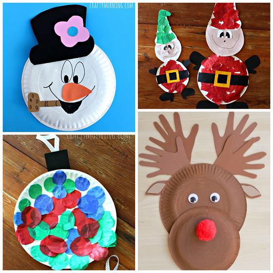 Christmas Paper Plate Crafts For Kids Crafty Morning Christmas