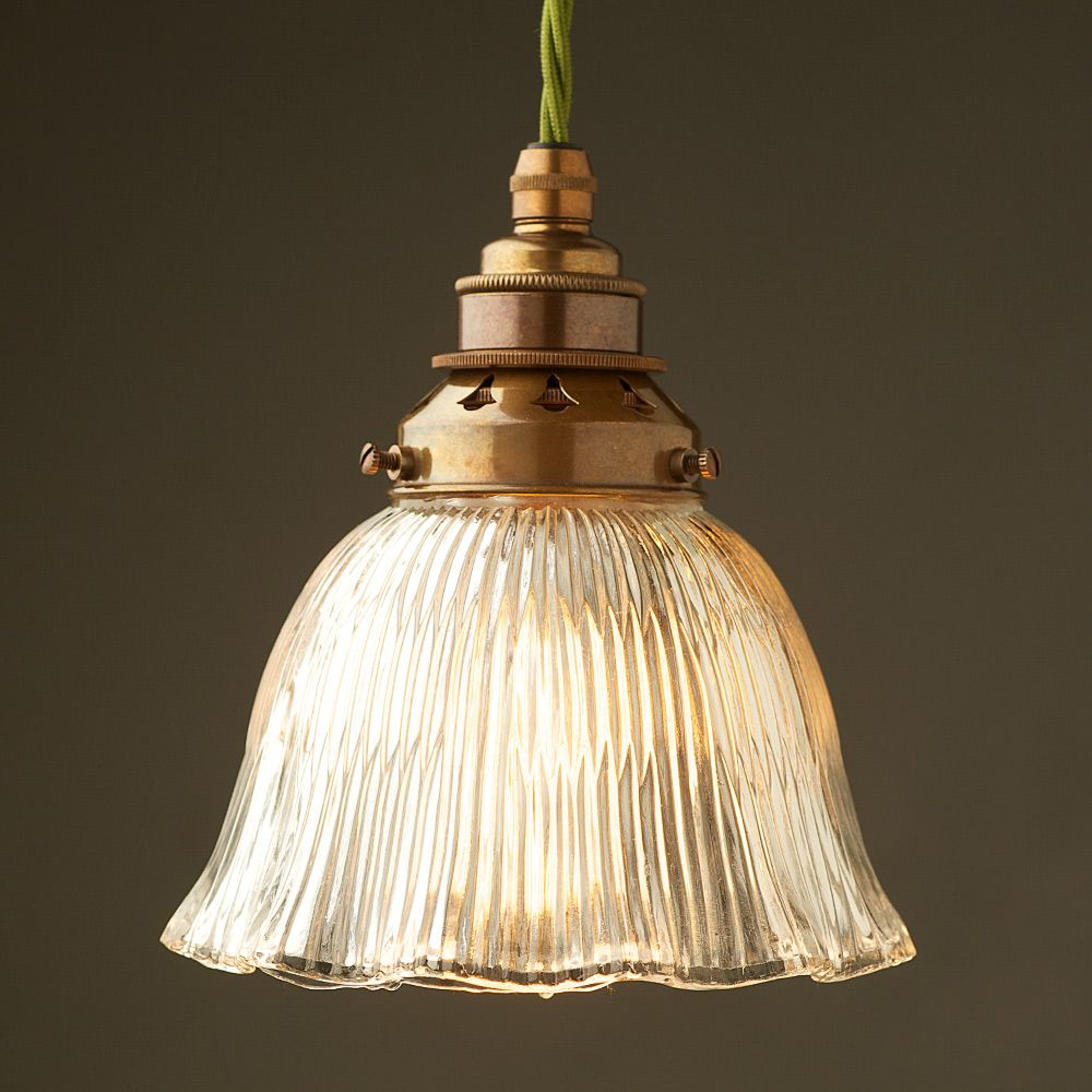 Holophane fluted dome light shade E27 pendant in 2020