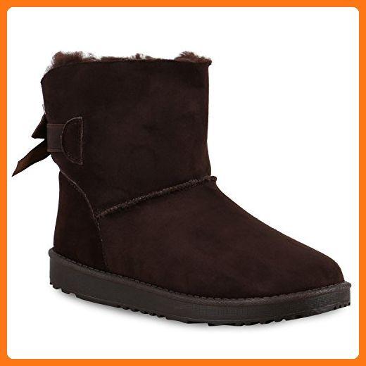 Warm Gefütterte Damen Stiefel Schlupfstiefel Boots